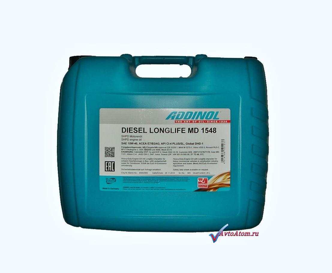 Автомасло Addinol MD 1548 20л