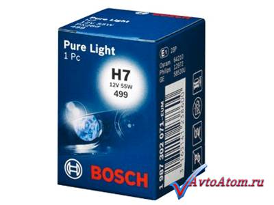 Лампа Н7 12V BOSCH Pure Light