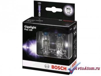 Лампа H1 12V BOSCH Gigalight Plus 120, 2 шт