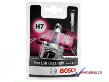 Лампа H7 12V Bosch Gigalight Plus 150